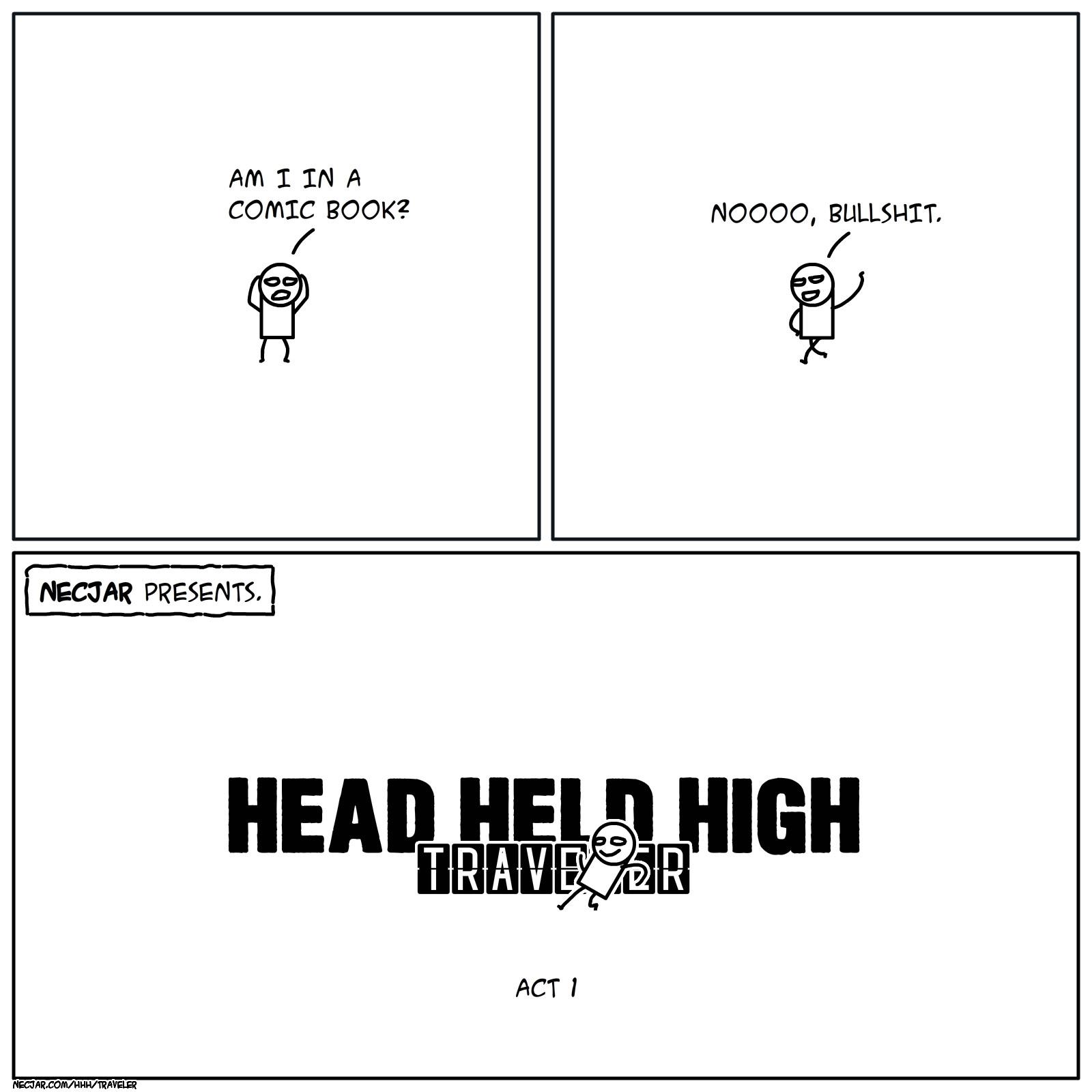 NECjAR presents, Travis, Traveler, comics, HHH, Head Held High, Head Held High: Traveler, Высоко Поднятой Головой